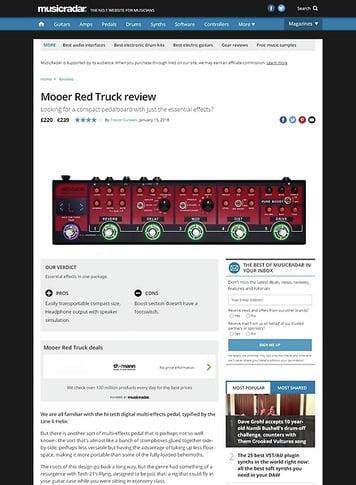 MusicRadar.com Mooer Red Truck