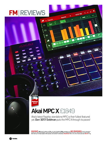 Future Music Akai MPC X