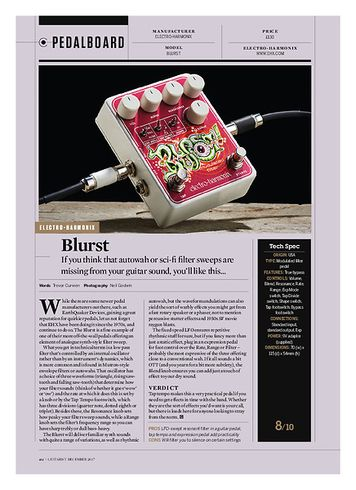 Guitarist Electro Harmonix Blurst