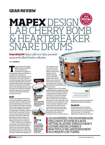Rhythm Mapex Design Lab Cherry Bomb & HeartBreaker Snare Drums