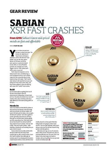 Rhythm Sabian XSR Fast Crashes
