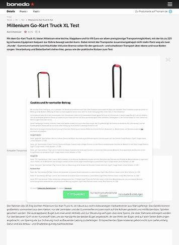 Bonedo.de Millenium Go-Kart Truck XL