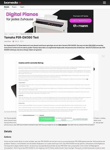 Bonedo.de Yamaha PSR-EW300