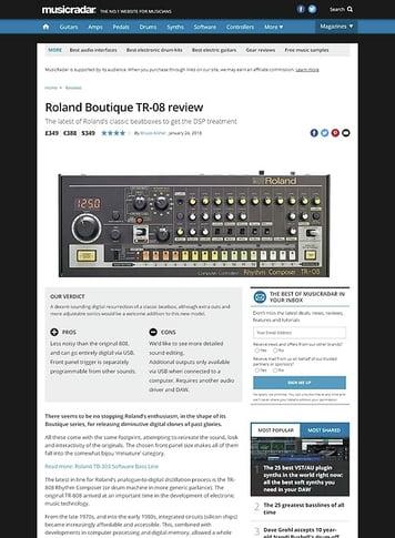 MusicRadar.com Roland Boutique TR-08