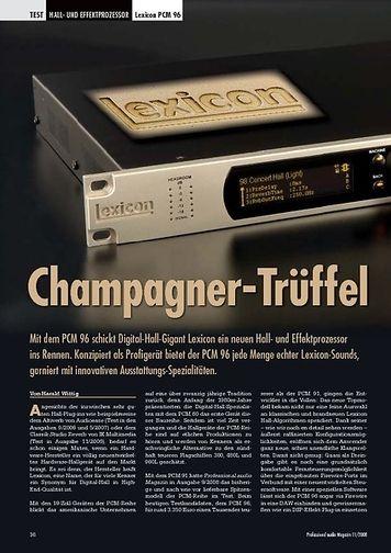 Professional Audio Champagner-Trüffel: Lexicon PCM 96