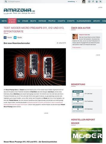 Amazona.de Mooer Micro Preamps 011, 012 und 013