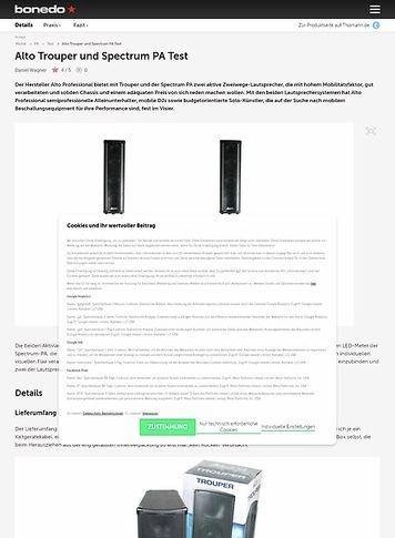 Bonedo.de Alto Trouper und Spectrum PA