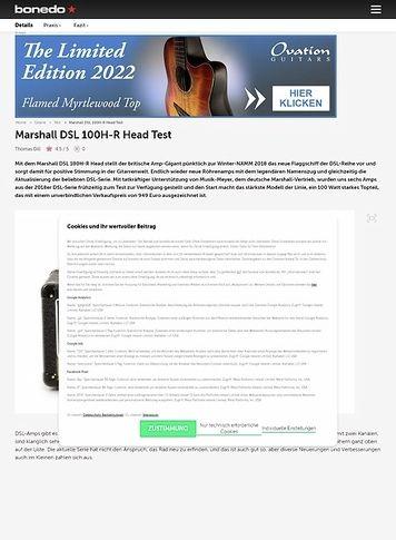 Bonedo.de Marshall DSL 100H-R Head