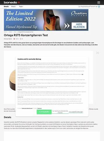 Bonedo.de Ortega RST5 Konzertgitarren Test