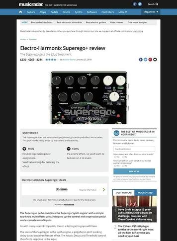 MusicRadar.com Electro-Harmonix Superego+