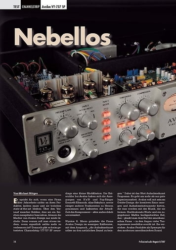 Professional Audio Nebellos Avalon VT-737 SP