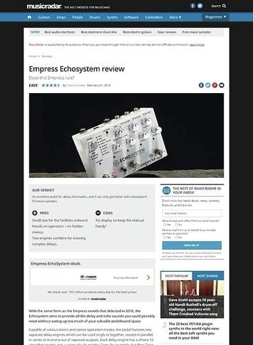 MusicRadar.com Empress EchoSystem