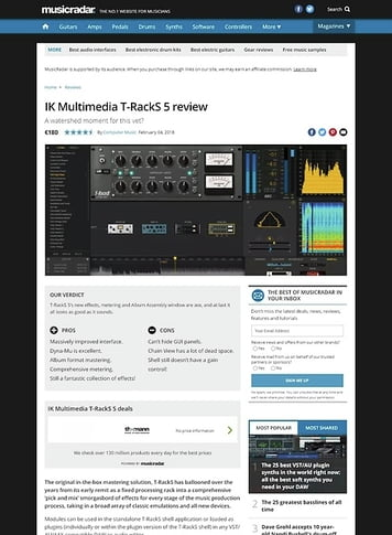 MusicRadar.com IK Multimedia T-RackS 5