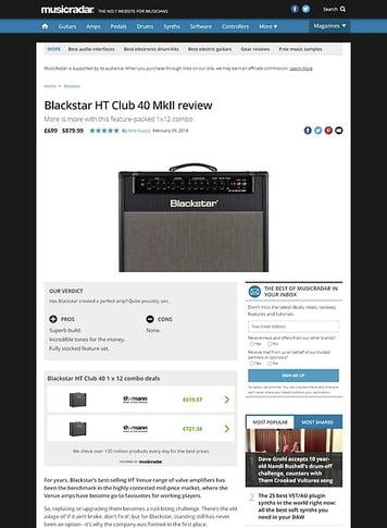 MusicRadar.com Blackstar HT Club 40 MkII