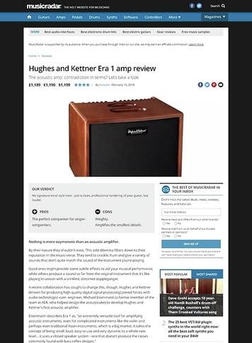 MusicRadar.com Hughes and Kettner Era 1 amp