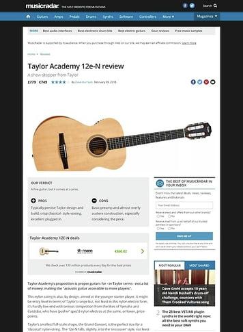 MusicRadar.com Taylor Academy 12e-N