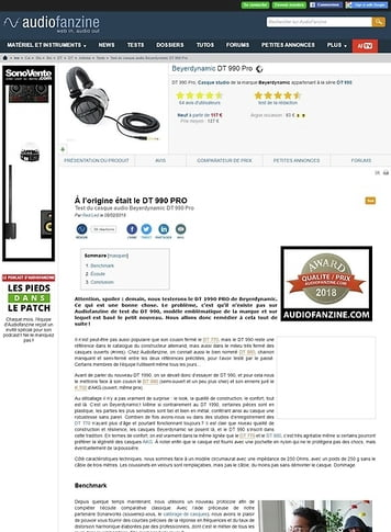 Audiofanzine.com Beyerdynamic DT 990 Pro