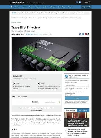 MusicRadar.com Trace Elliot Elf