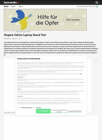 Bonedo.de Magma Vektor Laptop Stand