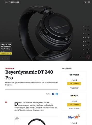 Kopfhoerer.de Beyerdynamic DT-240 Pro