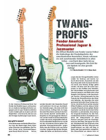 Gitarre & Bass Fender American Professional Jaguar & Jazzmaster