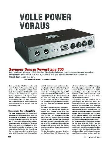 Gitarre & Bass Seymour Duncan PowerStage 700