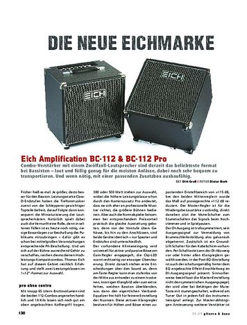Gitarre & Bass Eich Amplification BC-112 & BC-112 Pro