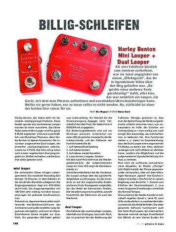 Gitarre & Bass Harley Benton Mini Looper + Dual Looper