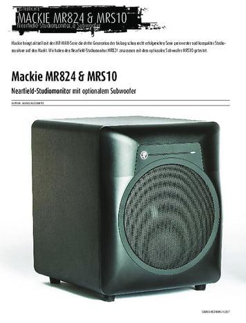 Sound & Recording Mackie MR824 & MRS10