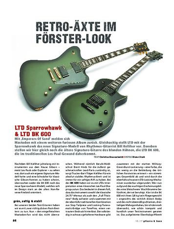 Gitarre & Bass LTD Sparrowhawk & LTD BK 600