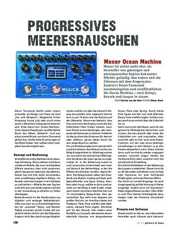 Gitarre & Bass Mooer Ocean Machine