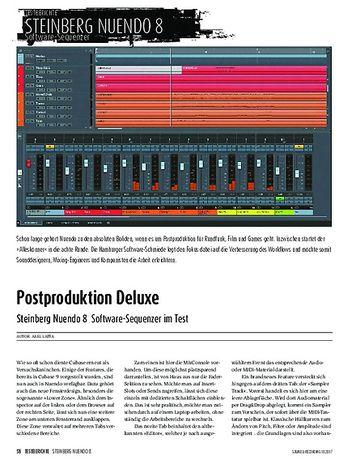 Sound & Recording Steinberg Nuendo 8