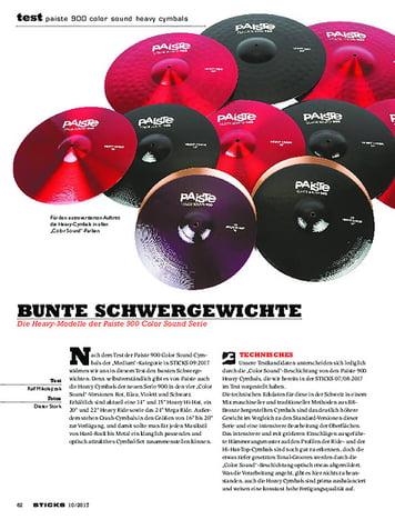Sticks Paiste 900 Color Sound Heavy Cymbals