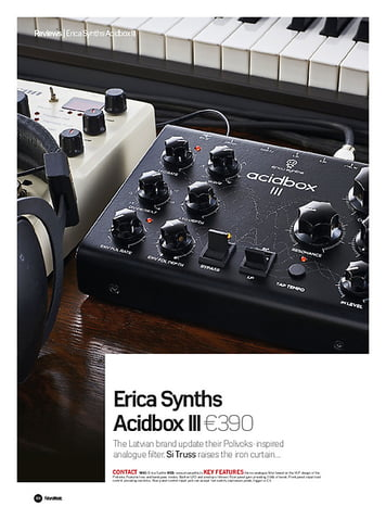 Future Music Erica Synths Acidbox III
