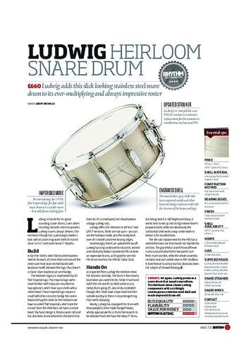 Rhythm LUDWIG HEIRLOOM SNARE DRUM