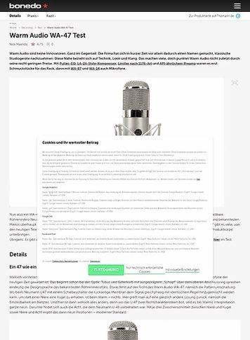 Bonedo.de Warm Audio WA-47