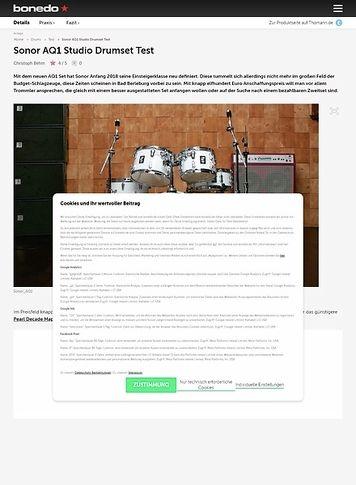 Bonedo.de Sonor AQ1 Studio Drumset