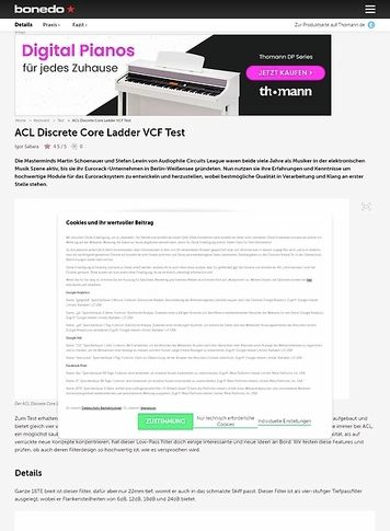 Bonedo.de ACL Discrete Core Ladder VCF