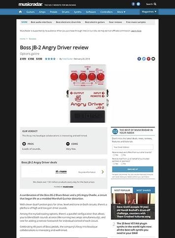 MusicRadar.com Boss JB-2 Angry Driver