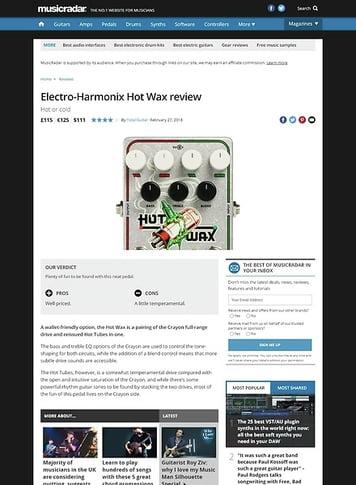 MusicRadar.com Electro-Harmonix Hot Wax