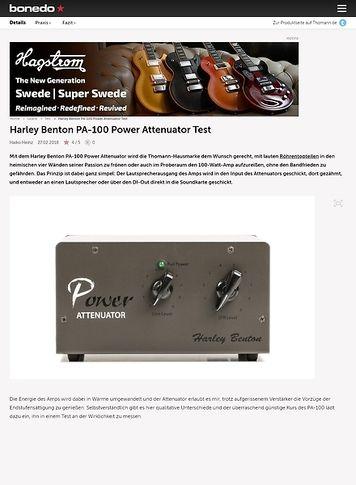 Bonedo.de Harley Benton PA-100 Power Attenuator