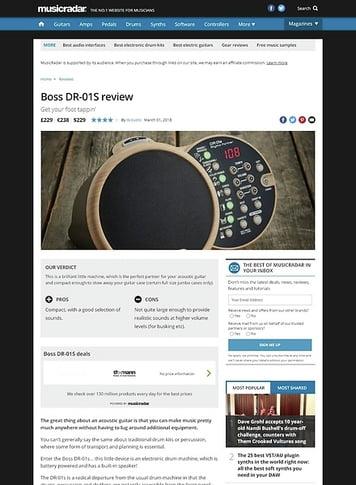 MusicRadar.com Boss DR-01S