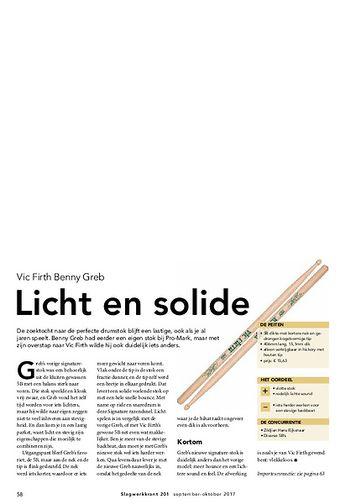 slagwerkkrant.nl Vic Firth Benny Greb