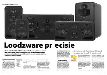 interface.nl Adam Audio S-serie monitors