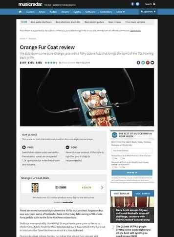 MusicRadar.com Orange Fur Coat