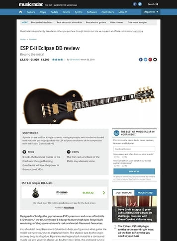 MusicRadar.com ESP E-II Eclipse DB