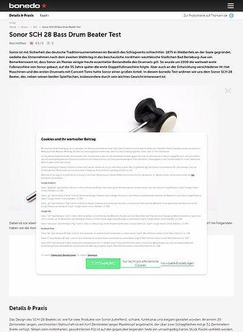 Bonedo.de Sonor SCH 28 Bass Drum Beater