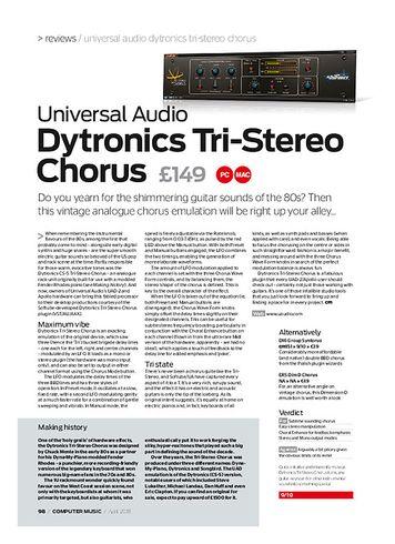 Computer Music Universal Audio Dytronics Tri-Stereo Chorus