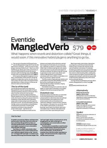 Computer Music Eventide MangledVerb