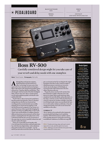 Guitarist Boss RV-500